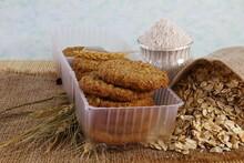 Healthy Wholegrain Organic Oatmeal Cooki With Oatmeal Flour,rolled Oatmeal Flakes