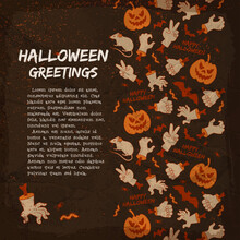 Halloween Elements Greeting Card