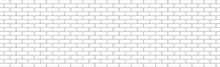 Realistic Wall Background, New White Brickwork - Vector
