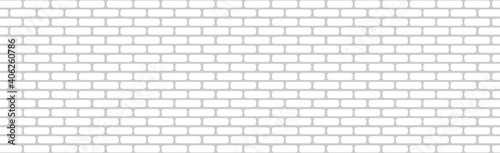 Realistic wall background, new white brickwork - Vector Fototapete
