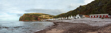 The Village Of Pennan On The North East Coast Of  Scotland.