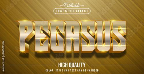 Photo Editable text style effect - Pegasus text style theme.