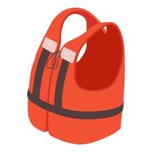Life Jacket Icon. Isometric Of Life Jacket Vector Icon For Web Design Isolated On White Background