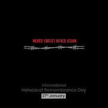 International Holocaust Remembrance Day Vector. Holocaust Remembrance Day Poster, January 27
