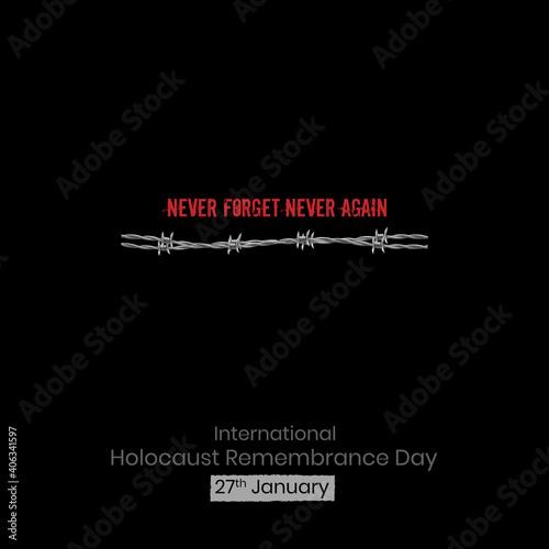 Obraz na plátne International Holocaust Remembrance Day vector