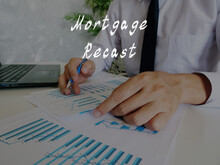 Financial Concept About Mortgage Recast With Sign On The Piece Of Paper.