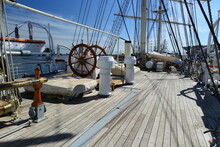 View Of Boat Deck Against Sky