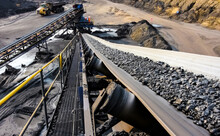 Piece Of Large Machinery Used For Coal Mining In An Open Pit In South Africa