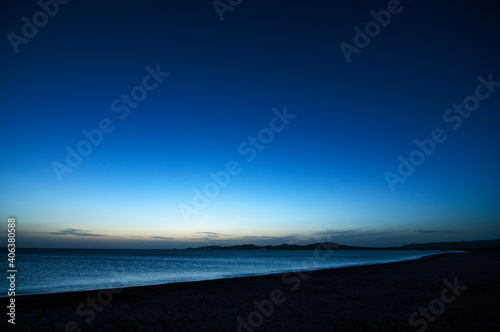 Scenic View Of Sea Against Sky At Dusk Fototapete