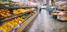 Produce Aisle In Supermarket