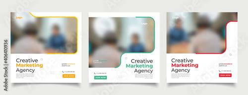 Fotografía Digital business marketing banner for social media post template