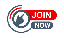 Join Us Now Button - Rounded Active Element