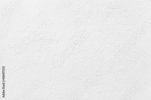 Old cement wall painted white texture and seamless background - fototapety na wymiar