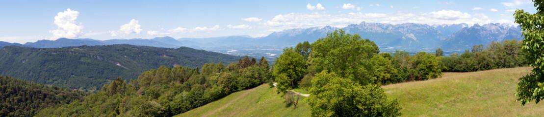 Vista su Belluno dall'Alpe Nevegal