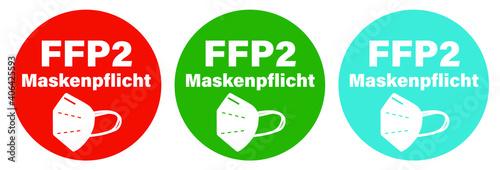 Canvas Print FFP2 Masken-Pflicht Corona Pandemie