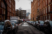 View Of Cars Parked In The Busy Chelsea District Street In London