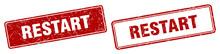 Restart Stamp Set. Restart Square Grunge Sign