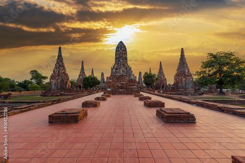 Fotografie, Obraz wat chaiwatthanaram temple, ayutthaya, thailand (ayutthaya historical park )