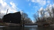 A Time Lapse Video Of Pine Creek Grist Mill And Melpine Schoolhouse 4K