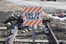 End Of Track Railroad Sign