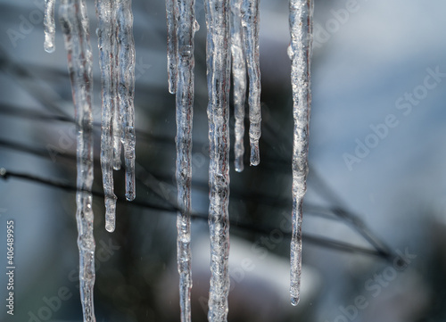 cold winter ice icicle  view nature