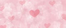 Fondo Para San Valentín Textura Abstracta Y Corazones