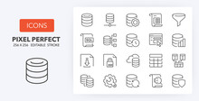 Database Line Icons 256 X 256
