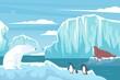 Polar Wildlife Flat Composition