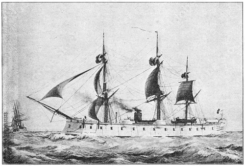 Photo Ocean (1865) - a wooden-hulled, armored frigate built for the French Navy