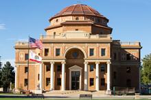 Public Government Building, City Hall, Atascadero, California, Rotunda Building. Small Town America
