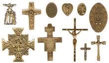 Miraculous Christian Catholic Antique Bronze Medals