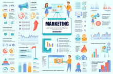 Bundle Marketing And Promo Infographic UI, UX, KIT Elements. Different Charts, Diagrams, Workflow, Flowchart, Timeline, Schemes, Graphs Design Template. Vector Info Graphic And Infographics Set.
