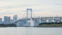 Rainbow Bridge In The Tokyo City , Japan