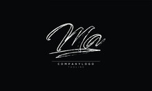 MA AM M AND A Abstract Initial Monogram Letter Alphabet Logo Design