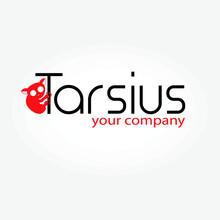 Tarsius Primate Animal Red Logo With Writing
