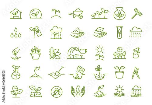 Obraz na plátne Set of icons