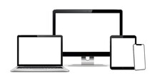 Computer Screen, Laptop, Tablet, And Smart Phone