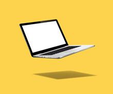 Levitation Laptop Mockup