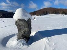 Matic Poljana, Field With Rock Monuments Representing In World War 2 Froezen Partisans, Near Mrkopalj, Croatia
