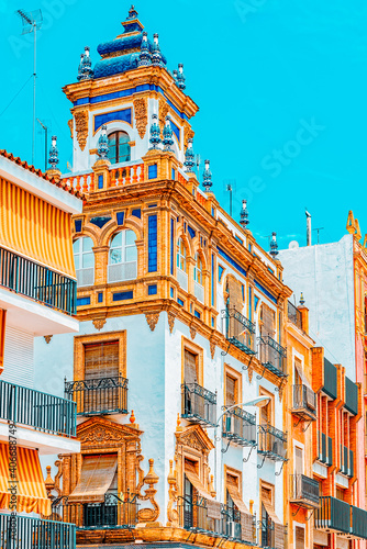 Fotografie, Obraz Downtown of the city Seville - is the capital and largest city o