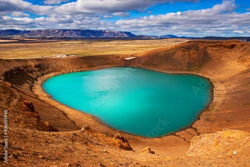 Canvas Volcano crater Viti