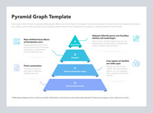 Pyramid Graph Template With 4 Colorful Steps. Easy To Use For Your Website Or Presentation.