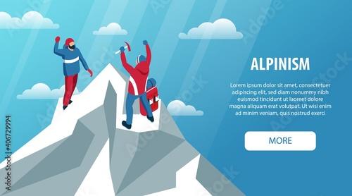 Fototapeta Alpinism Peak Horizontal Banner
