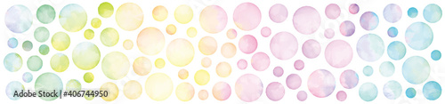 Obraz na płótnie Vector set of rainbow watercolor circles. 水彩のベクター円形セット