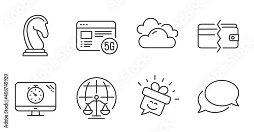 Fotografering Magistrates court, Marketing strategy and Smile line icons set