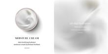 Moisturizing Cream Or Swirl Cosmetic Cream, Top View Vector.