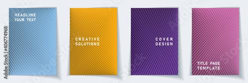 Fotografia, Obraz Crossed lines halftone cover page templates batch