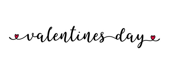 Handwritten VALENTINES DAY quote as logo. Script Lettering for greeting card, poster, flyer, banner. Modern calligraphy inscription for header or as design element
