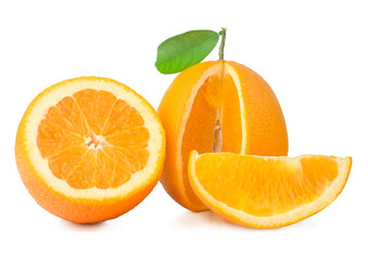 Oranges isolated on the white background