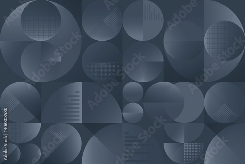 Canvas Print Modern geometric seamless pattern of circles and squares